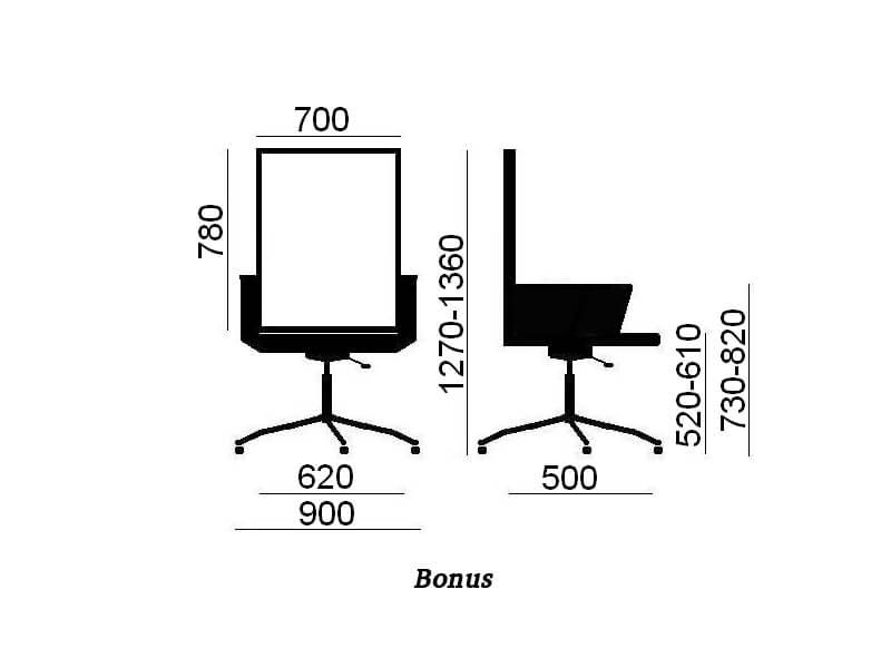 Bonus кресла в офис Enran
