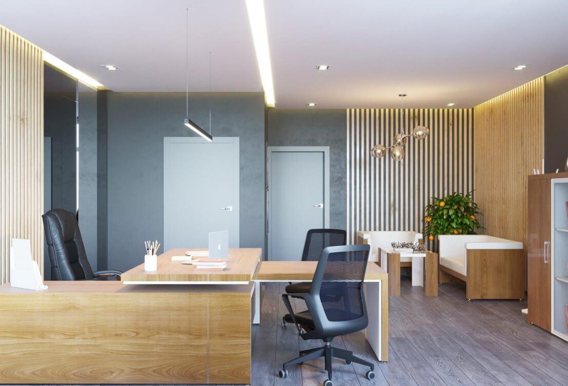 Проект меблирования офисного помещения, кабинет руководителя, стол руководителя, кабинет директора, мебель для руководителя