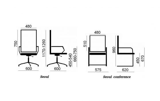 Seoul conference кресла в офис Enran